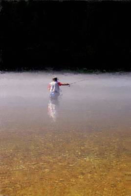 Photograph - Fishing The White River by Russell Owens