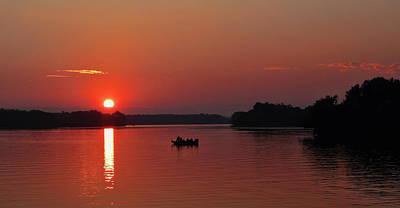 Photograph - Fishing Until Sunset by Dale Kauzlaric