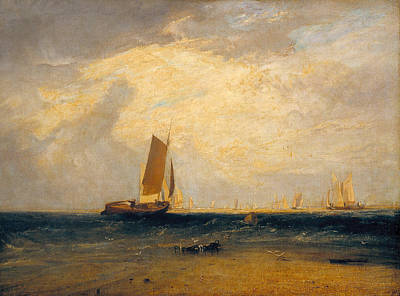 English Painting - Fishing Upon The Blythe-sand, Tide Setting In by JMW Turner