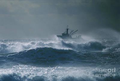 Dragger Photograph - Fishing Vessel Bulldog by Jim Beckwith