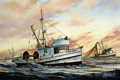 Starlight Painting - Fishing Vessel Starlight by James Williamson