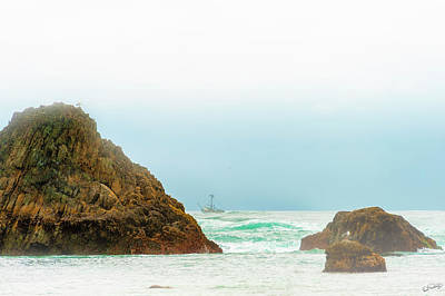 Photograph - Fishing Vessel Trolls The Pacific by Dee Browning