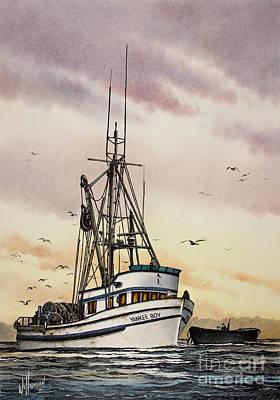 Yankees Painting - Fishing Vessel Yankee Boy by James Williamson