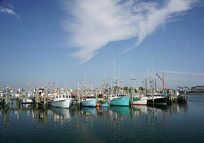Photograph - Fishing Vessels At Galilee Rhode Island by Nancy De Flon