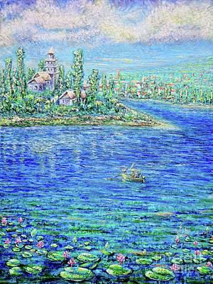 Painting - Fishing by Viktor Lazarev