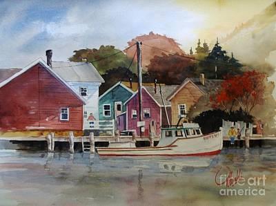 Painting - Fishing Village by Gerald Miraldi