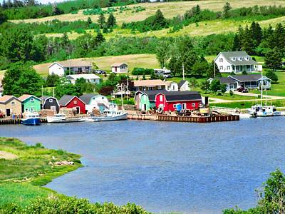 Photograph - Fishing Village In Prince Edward Island by Stephanie Moore