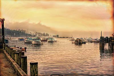 Photograph - Fishing Village by John M Bailey