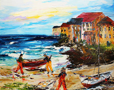 Painting - Fishing Village by Kevin Brown