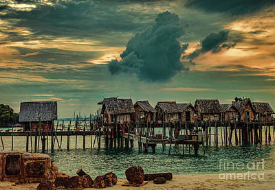 Photograph - Fishing Village by Ray Shiu