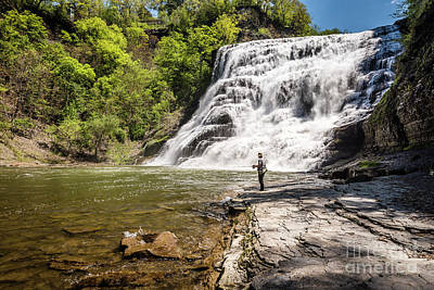 Photograph - Fishing Waterfall by Joann Long