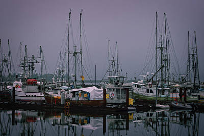 Fishing Wharf In Clearing Mist Art Print