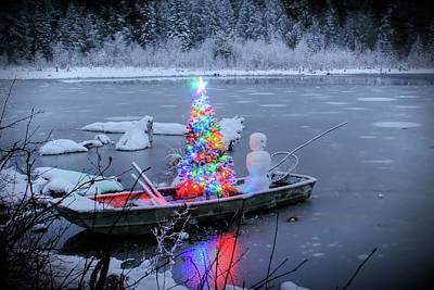 Photograph - Fishing With Christmas Spirit by Robert Hosea