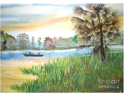 Fishing With My Son Art Print by Hal Newhouser
