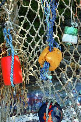 Photograph - Fishnet And Buoys by Nikolyn McDonald