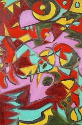 Alfredo Llana Painting - Fishtank 2 by Alfredo Dane  Llana