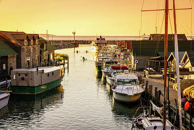 Art Print featuring the photograph Fishtown by Alexey Stiop