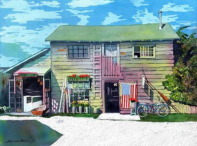 Painting - Fishtown - Spork Tile Art by LeAnne Sowa