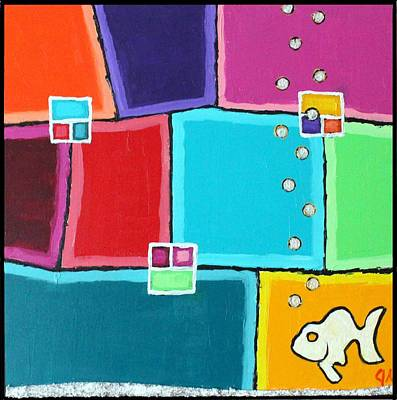 Painting - Fishy Color by Jeremy Aiyadurai