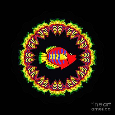 Photograph - Fishy Colorful Kaleidoscope By Kaye Menner by Kaye Menner