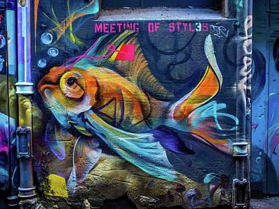 Painting - Fishy  / Melbourne Art by Sheila Mcdonald