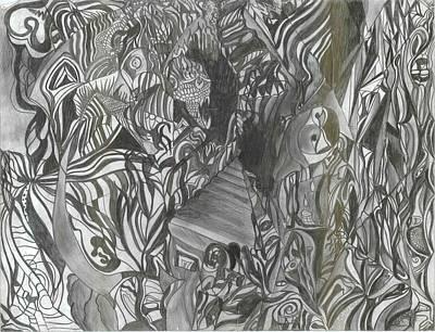 Fist Doodle Art Print by Joseph  Arico