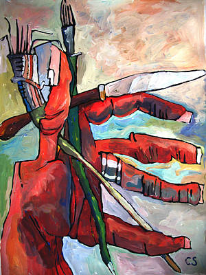 Fistful Of Brushes Original by Charlie Spear