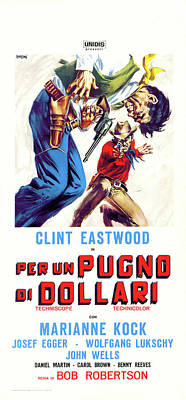 Movies Digital Art - Fistful Of Dollars by Movieworld Posters
