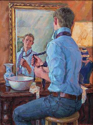 Mirror Painting - Fit To Be Tied by David Tanner