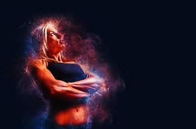 Exercise Mixed Media - Fitness Burn by Zin Shades