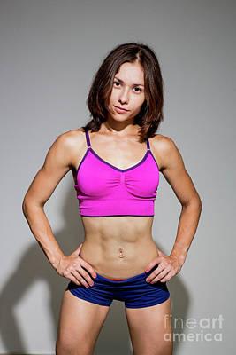 Female Bodybuilder Photograph - Fitness, Sport, Training Women In Sport Clothing by Sv