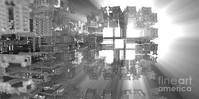 Tetris Block Digital Art - Fitting In by Jon Munson II