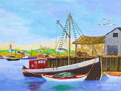 Painting - Fitting Out For Seining by Bill Hubbard