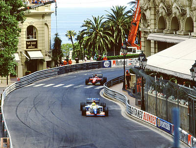 Photograph - Fittipaldi, Berger At Casino Square by John Bowers