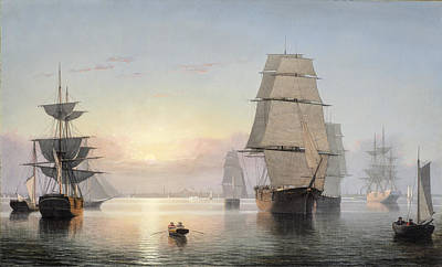 Fitz Painting - Fitz Henry Lane by Boston Harbor
