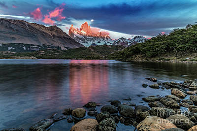 Photograph - Fitz Roy On Fire by Bernardo Galmarini