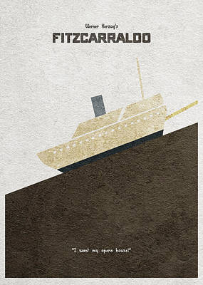 Digital Art - Fitzcarraldo Alternative Minimalist Poster by Inspirowl Design