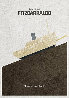 Digital Art - Fitzcarraldo Alternative Minimalist Poster by Inspirowl Design