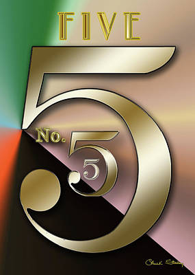 Digital Art - Five 2 by Chuck Staley