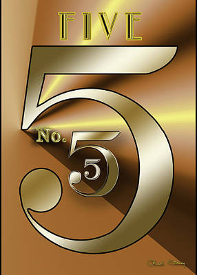 Digital Art - Five 3 by Chuck Staley