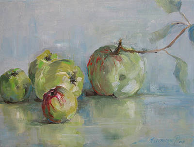Painting - Five Apples by Synnove Pettersen