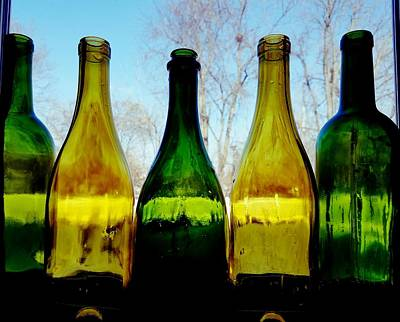 Photograph - Five Bottles by Vijay Sharon Govender