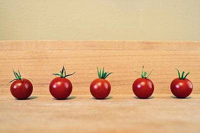Photograph - Five Cherry Tomatoes by Michelle Calkins