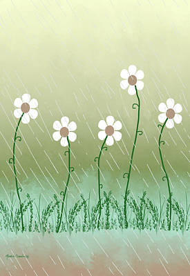 Painting - Five Days Of Daisies by Rosalie Scanlon