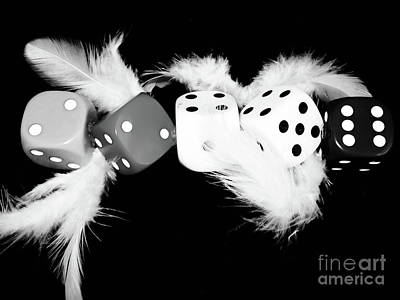 Photograph - Five Dice Wish  by Gerald Kloss
