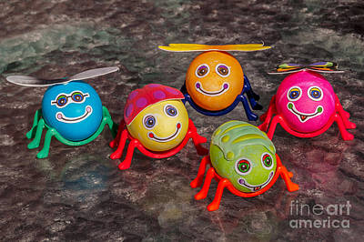 Photograph - Five Easter Egg Bugs by Sue Smith