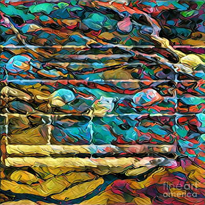 Digital Art - Five Figure Squared 2 by Lon Chaffin