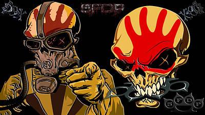 Artwork Digital Art - Five Finger Death Punch by Maye Loeser