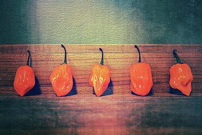 Photograph - Five Habaneros by Michelle Calkins