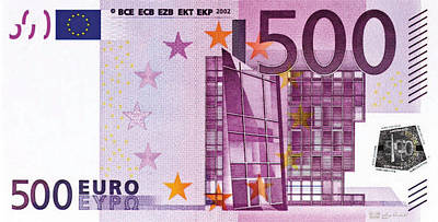 Digital Art - Five Hundred Euro Bill by Serge Averbukh
